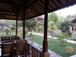 View of Sari Inn Grounds from Restaurant